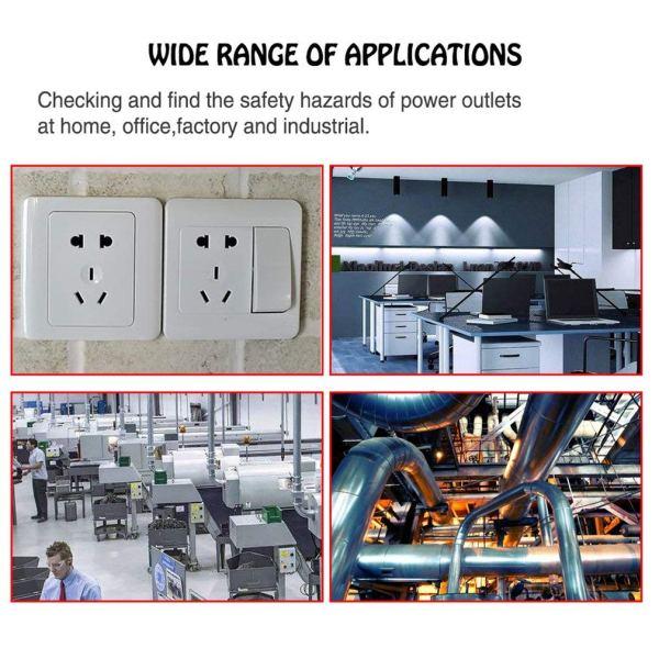Socket Tester Plug Circuit Analyzer Power Socket Electric Circuit Polarity Voltage Detector 5