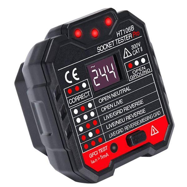 Socket Tester Plug Circuit Analyzer Power Socket Electric Circuit Polarity Voltage Detector 1