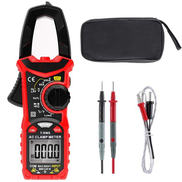 Digital Clamp Meter 6000 Counts True RMS NCV AC/DC Voltage and AC Current Resistance Capacitance Frequency Tester 1