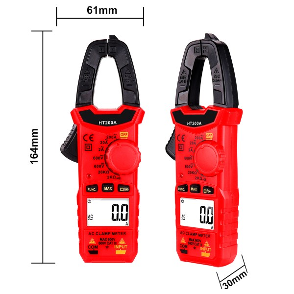 Digital Clamp Meter for AC/DC Voltage, AC Current, Resistance, Continuity, Diode Mini Multi Meter 7