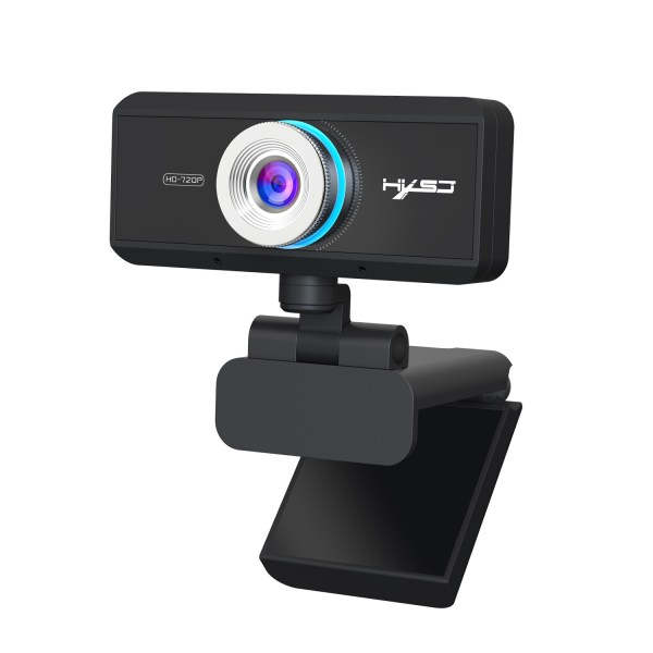 HD 720P Computer Camera, Laptop PC Webcam with Sound Absorbing Microphone 1