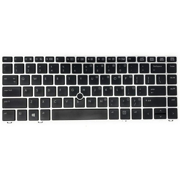 Replacement Keyboard for HP EliteBook Folio 9470m 9480m Laptop Silver Frame with Pointer 1