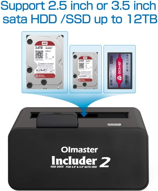 HDD Docking Station SATA III/II/I to USB 3.0 External Enclosure for 2.5 & 3.5 Inch SATA III Hard Drive 2