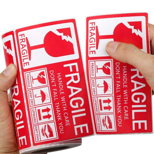 Fragile Stickers 130 x 70mm 1 Roll 250 Labels, Handle with Care Do Not Fall Thank You 1