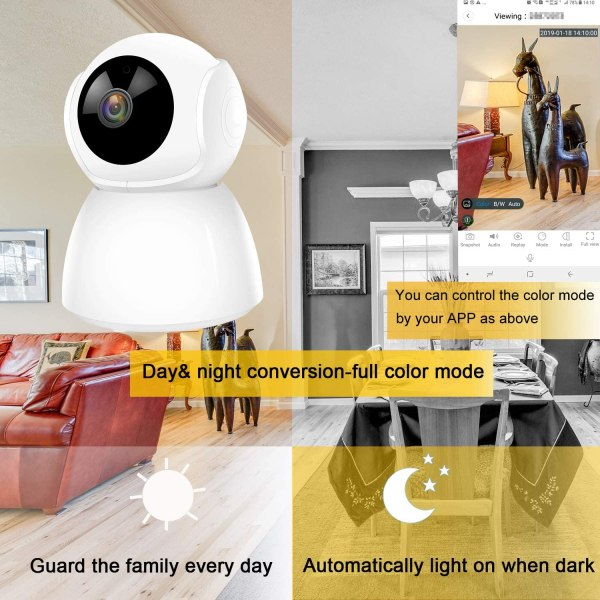 Wireless IP Camera Supports Two Way Audio Motion Detection Pan/Tilt Onvif IR Day Night CCTV Network Surveillance Camera 7
