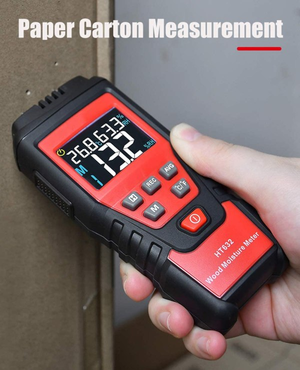 Wood Moisture Meter Digital Wood Humidity Tester Hygrometer Timber Damp Detector with Pin-Type 4