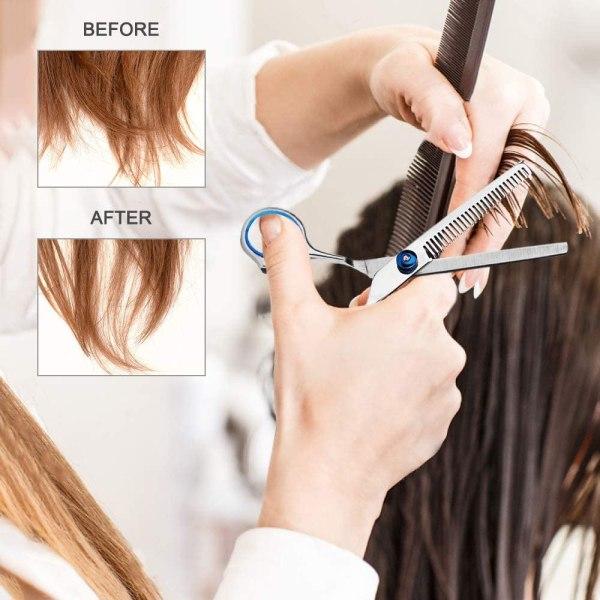 Hair Cutting Scissors Set 10 Pcs Hairdressing Scissors Kit, Thinning Shears, Hair Razor Comb, Clips, Cape, Hairdressing Scissors Kit 5