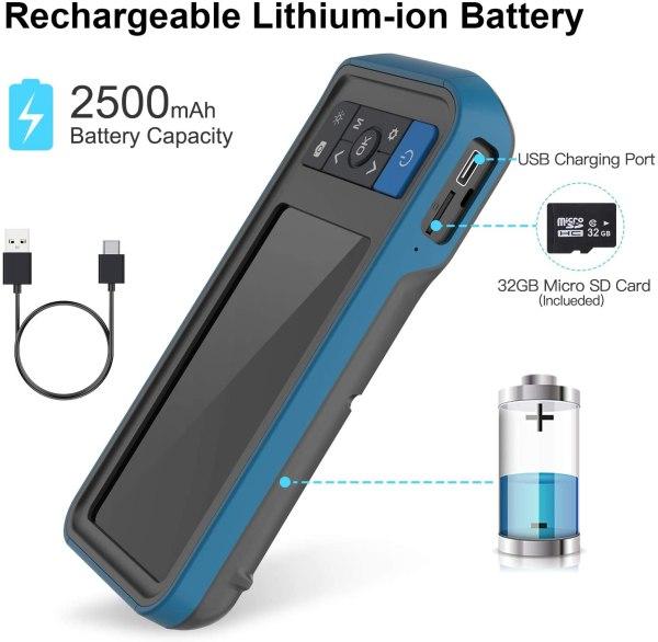"Inspection Camera 1080p Dual Lens 4.5"" Screen Endoscope with 32GB Memory Card, 16.4ft Waterproof Semi-Rigid Tube Industrial Borescope 7"
