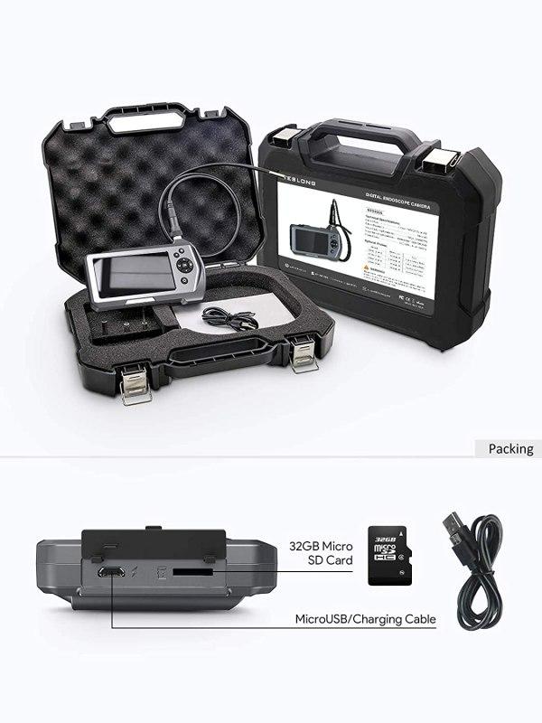 "Industrial Endoscope 3.5"" Screen Borescope Inspection Camera with 0.21"" Diameter Waterproof Snake Camera Probe (3m/9.84ft) 7"