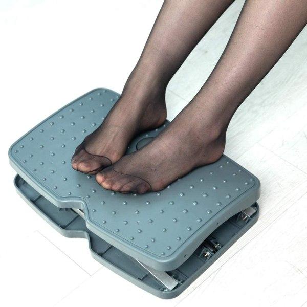 "Adjustable Footrest Under Desk Support Footstool Ergonomic Foot Rest 16.5"" x 11.4"" with Massage Textured Surface 7"