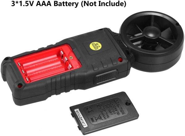 Digital Anemometer Humidity Temperature Testers with USB Data Logging Wind Speed Meter Air Flow Meters (Type B) 6
