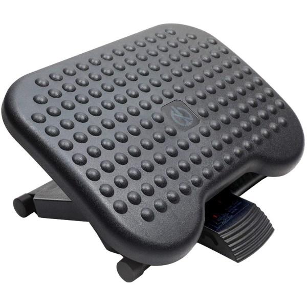 Adjustable Foot Rest Ergonomic Under Desk Footrest with 3 Height Position 30 Degree Tilt Angle Non-Skid Massage Surface Texture 1