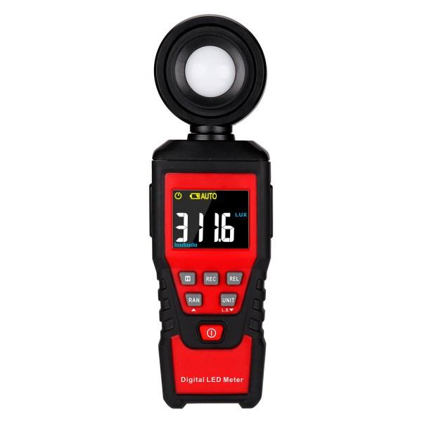 Digital Lux Light Meter Lumenmeter Lux/FC Meters Luminometer, 2000 Counts 0-200000 Lux/0-20000FC (0.01lux/0.01FC Resolution) 1
