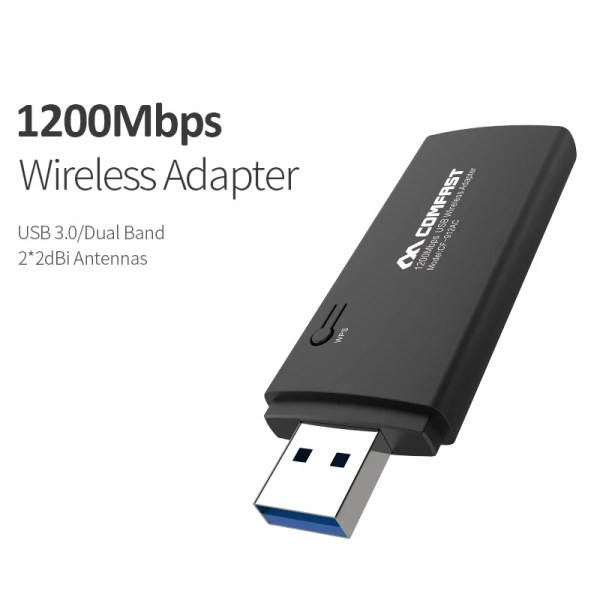 1200Mbps WiFi USB Adapter Dual band 2.4G/5.8GHz Wi fi Antenna Wifi Dongle Wireless Router wi-fi Network Card 3