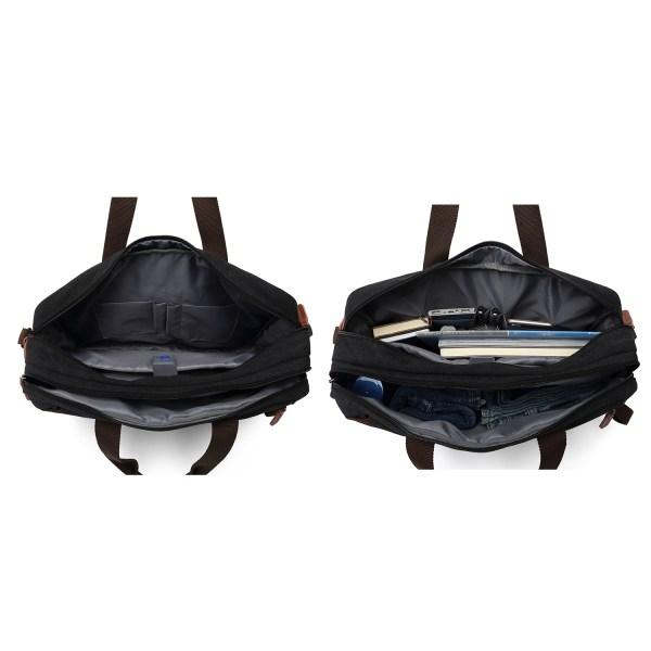 Convertible Backpack Briefcase Messenger Bag 17.3 Inch Laptop Tablet Carrying Case Shoulder Bag Waterproof 4
