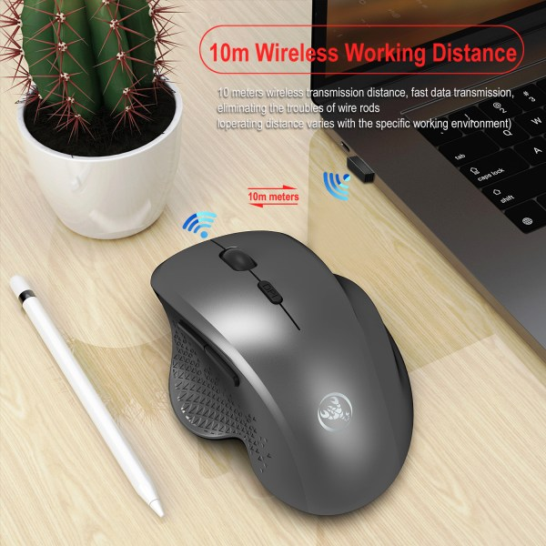 2.4GHz Wireless Mouse Optical Wireless Gaming Vertical Mute Mice 6 Keys, Three-Speed DPI Adjustable 7