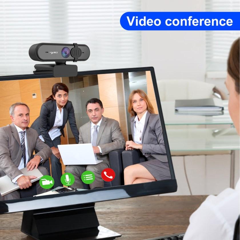 HD 1080P Webcam Autofocus Computer PC WebCam With Microphone Rotatable Cameras 10