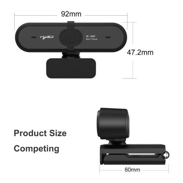 HD 1080P Webcam Autofocus Computer PC WebCam With Microphone Rotatable Cameras 9