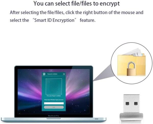 USB Fingerprint Reader, Laptop PC Fingerprint Identification Windows Hello Encryption For Windows 10 4