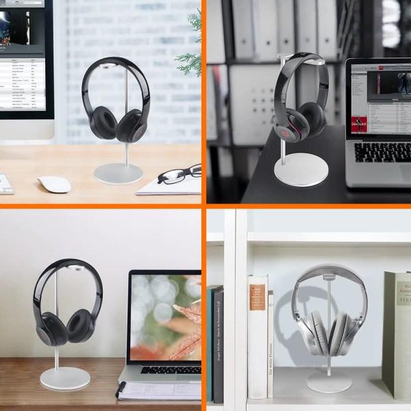 Aluminum Headphone Stand/Holder, Sturdy Gaming Headset Holder Desk Headset Hanger 5