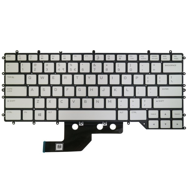 Replacement Keyboard for Dell Alienware M15 R2 2019 Year Laptop No Frame Backlight 2