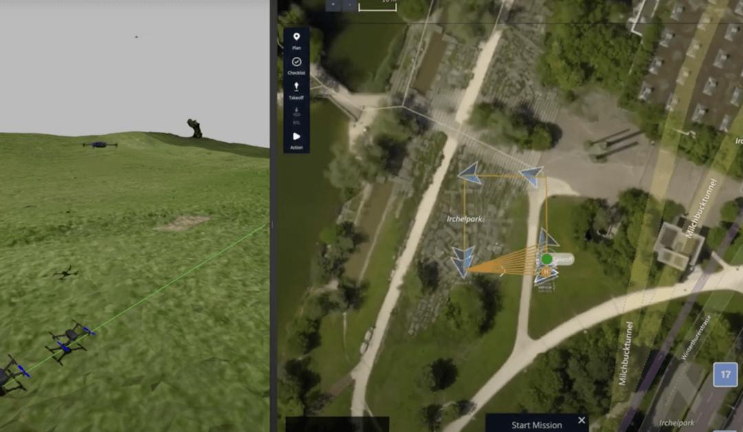 Multi-vehicle drone simulation in Gazebo