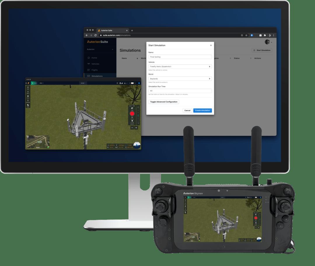 Auterion Simulator across devices