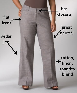 Lane Bryant Linen Blend Crosshatch Trousers