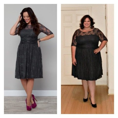 Luna Lace Dress from Kiyonna (Plus Size)
