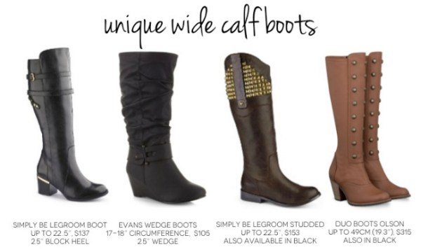 Unique wide calf boots