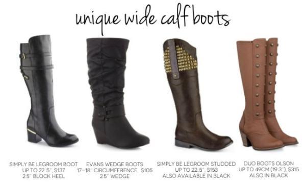Unique wide calf boots