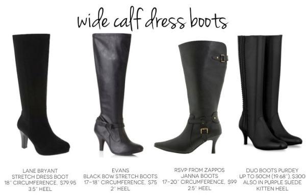 Wide Calf Dress Boots