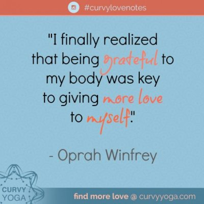 I finally realized that being grateful to my body was key to giving more love to myself.