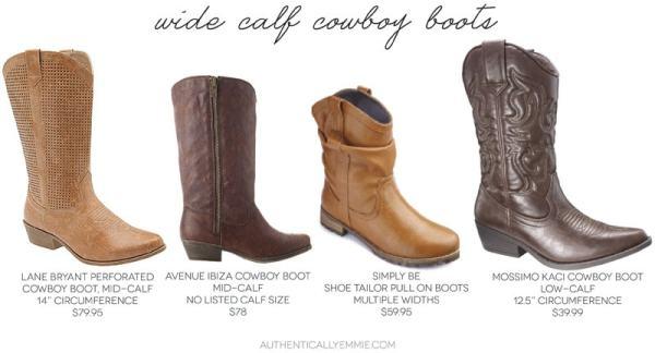 Wide Calf Cowboy Boots