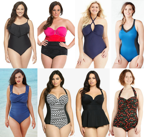 Plus Size One Piece Swim Suits