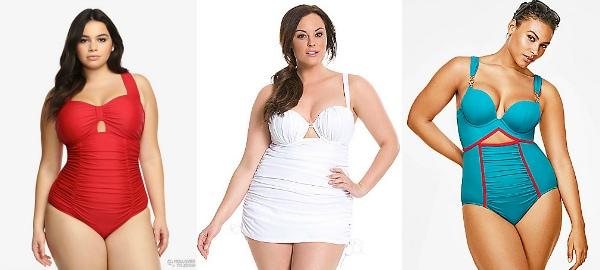 Plus Size Peek-a-Boo Swim Suits