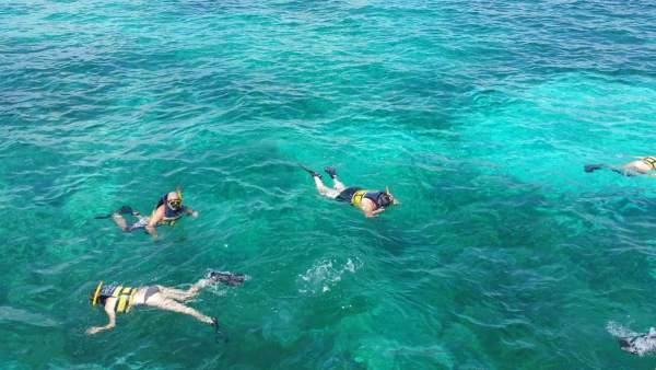 Emmie goes snorkeling