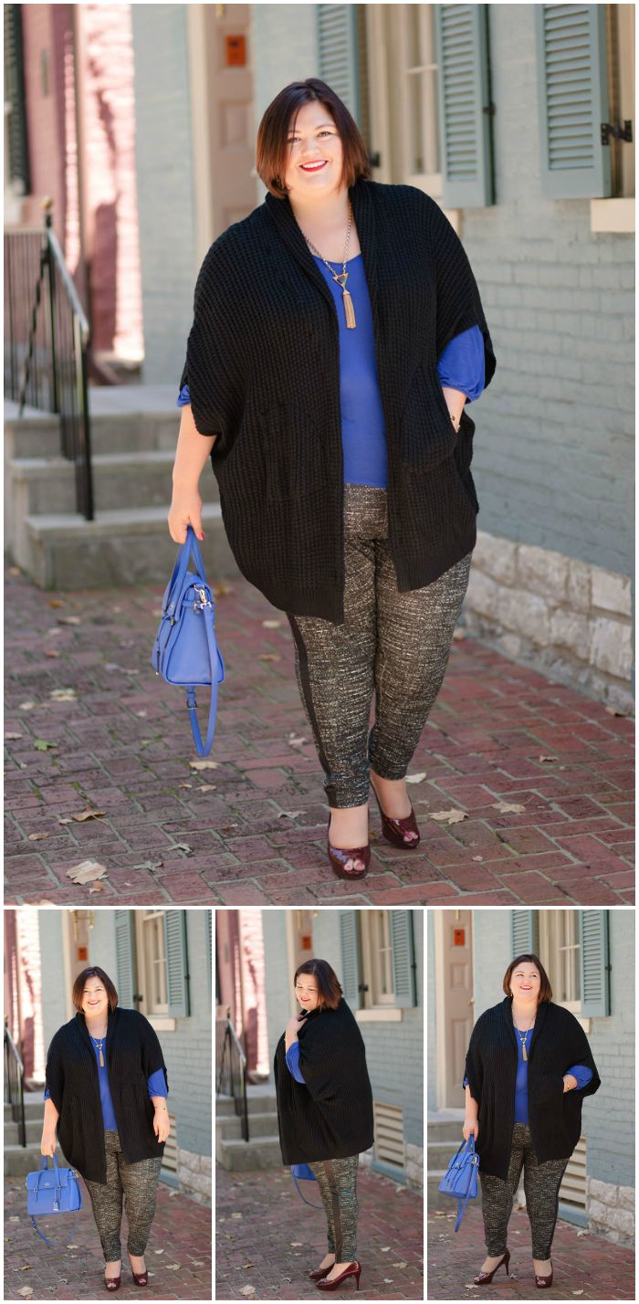 Plus size fashion blogger Authentically Emmie (@emilyjoanho) in items from Melissa McCarthy Seven7