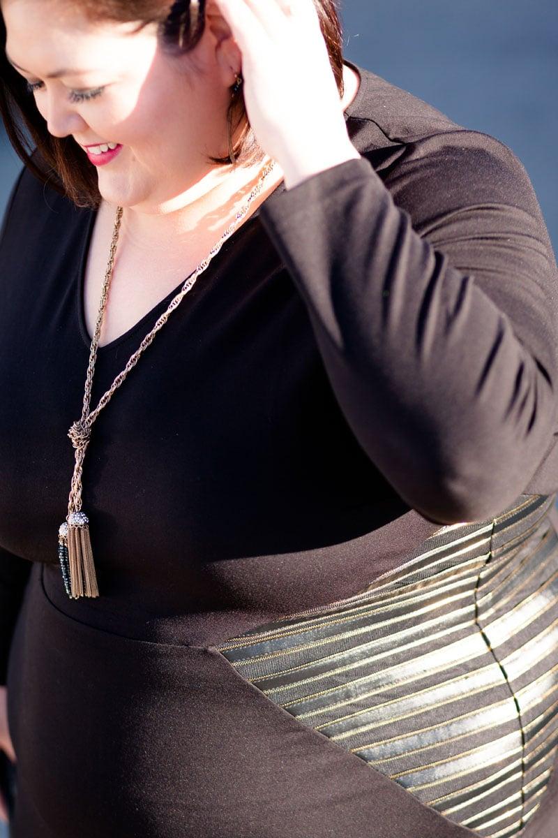 Authentically Emmie in an Eloquii Dress