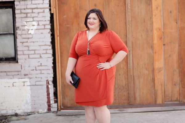 Authentically Emmie in the Ciara Cinch Dress from Kiyonna
