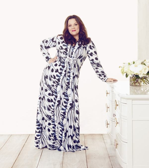 Melissa McCarthy Seven7 Cut-to-Fit Dress with Unfinished Hem