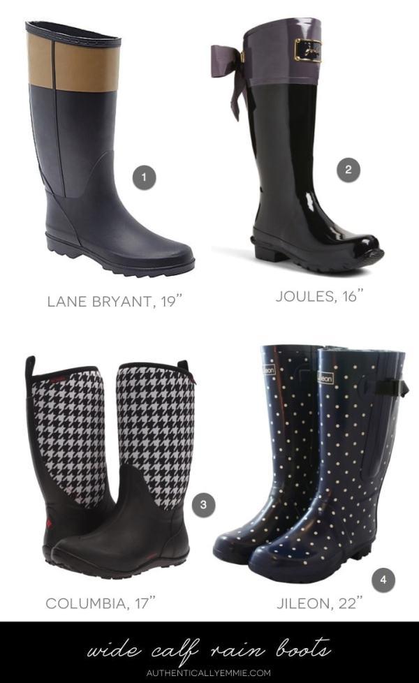 Wide Calf Rain Boots