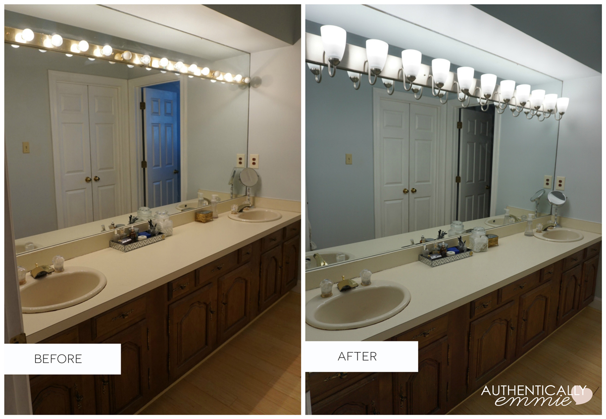 Bathroom Light Fixtures Replacing A Light Fixture On A Vanity Mirror