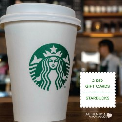 Day 1 Giveaway: Starbucks (CLOSED)