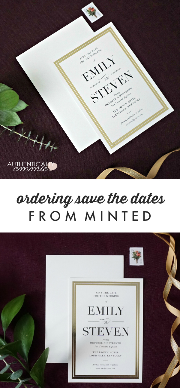 Reviewing the process of ordering save the dates and other wedding paper products from Minted, from Emily Ho of Authentically Emmie #wedding #savethedate