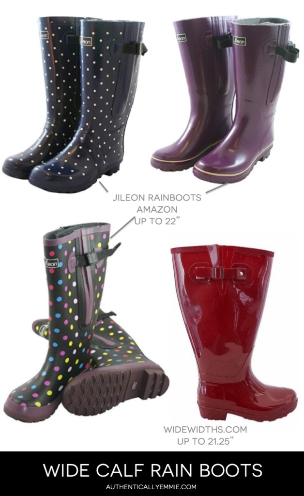 wide calf and extra wide calf rain boots and wellies