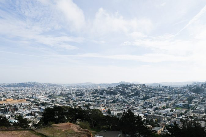 landscape photograph of San Francisco from Corona Heights
