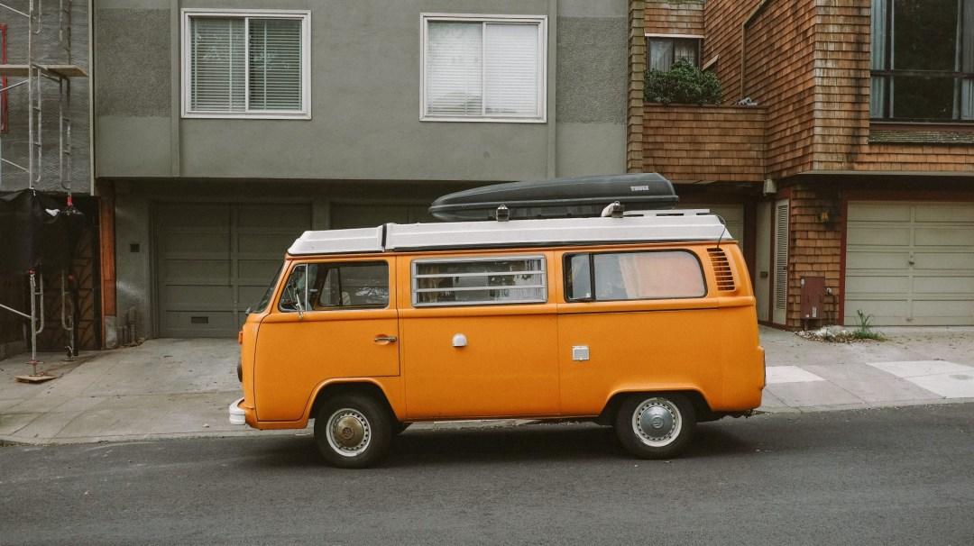 orange VW van