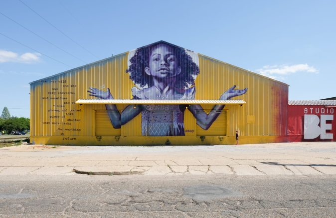 """A mural by Brandan """"B-Mike"""" Odums in New Orleans at Studio BE"""