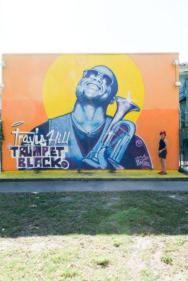 """Artist mural by Brandan """"B-Mike"""" Odums in New Orleans"""